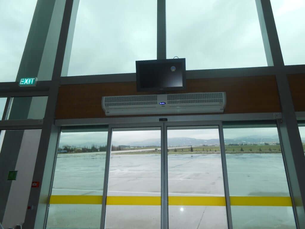 otomatik kapı üzeri ısıtıcılı hava perdesi